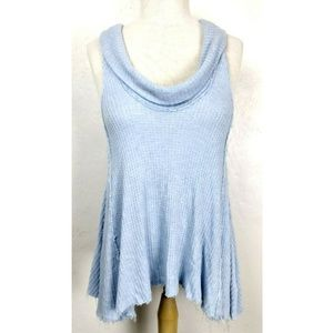 We The Free Cowl Neck Thermal Waffle Knit Tank